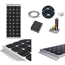 Kit solar monocristallino 120W x Camper completo de estribos sellador Cables Cables ECC