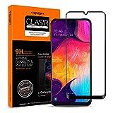 Spigen Full Cover Cam Ekran Koruyucu Galaxy A50 ile Uyumlu/Maksimum Koruma - Siyah