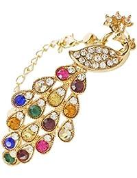 Bling N Beads Peacock Collection Golden Bracelet for Women