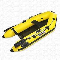 AQUAPARX RIB230 Pro - Barco de motor inflable con remos, amarillo