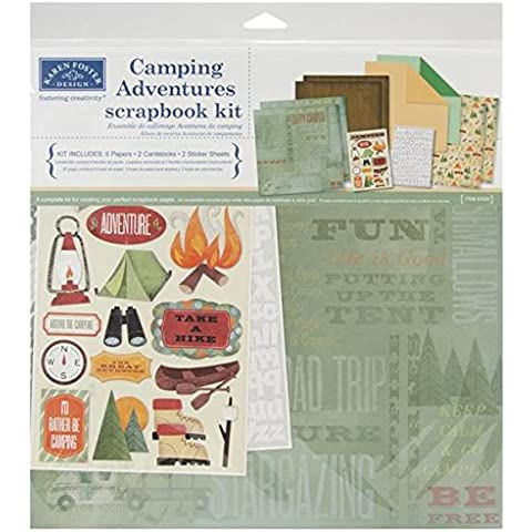 Camping Adventures Scrapbook Page Kit