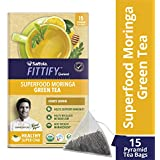 Saffola FITTIFY Gourmet Superfood Moringa Green Tea, Honey Lemon, 15 Sachets, 37.5g