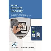 McAfee Internet Security - Software Edition 2018 von der Herstellerseite - Für eine unbegrenzte Anzahl an Geräten mit den neusten Updates FFP(Frustfreie Verpackung)
