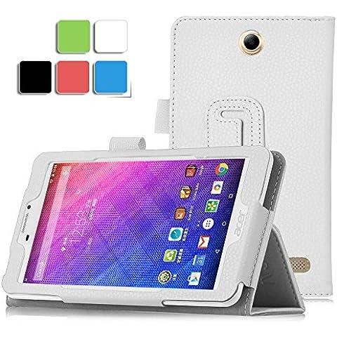 IVSO Acer Iconia Talk 7 B1-723 Cover Custodia - Slim Smart Cover Custodia Protettiva in pelle PU per Acer Iconia Talk 7 B1-723 Tablet, Bianco