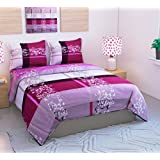 Loomsense 100% Cotton 3D 5D Printed Double Bedsheet With Two Pillow Cover (90X100)Inches,multicolour Digital Print