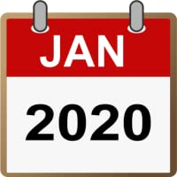 Calendar North America 2020 -  Holidays