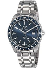 Rotary Herren - Armbanduhr Legacy GMT Analog Quarz GB90172/05