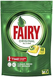Fairy Original All In One Dishwasher Tablets Regular, 48 Capsules