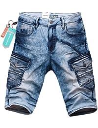 Cipo & Baxx Herren Jeans Cargo Shorts Bermuda CK124