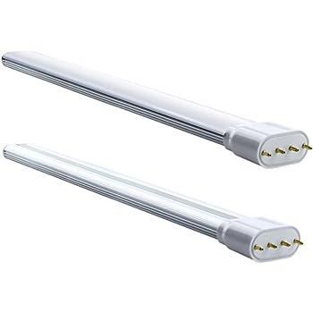 Luxvista 18W 2G11 4-Pin LED Bombilla con 1700 lumenes, 160 Grados (2-Unidades, Luz Fría 6000K)