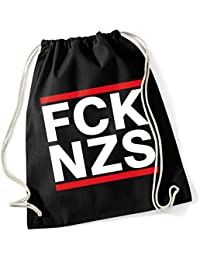 Politik FCK NZS Fuck Nazis Protest Turnbeutel Tasche