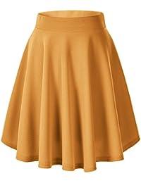 9e2f0c9ed9 Urban GoCo Falda Mujer Elástica Plisada Básica Patinador Multifuncional ...