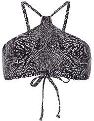 42e2aa6390b7 O'Neill PW Cali - Bikini da Donna, Donna, 9A8502, Black AOP