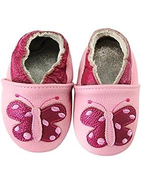 axy Baby Lederschuhe Lauflernschuhe Krabbelschuhe Babyschuhe Kindergartenschuhe - Schmetterling