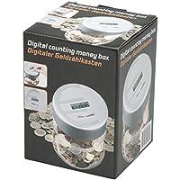 Preisvergleich für Spardose digital mit Zählwerk Münzzähler Sparschwein Sparbüchse Geldkassette NEU
