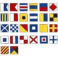 Código Internacional–bandera de banderas–Set de 26Total 28banderas–Náutico/marítimo/Marine/Barco/barco/barco/decoración náutica
