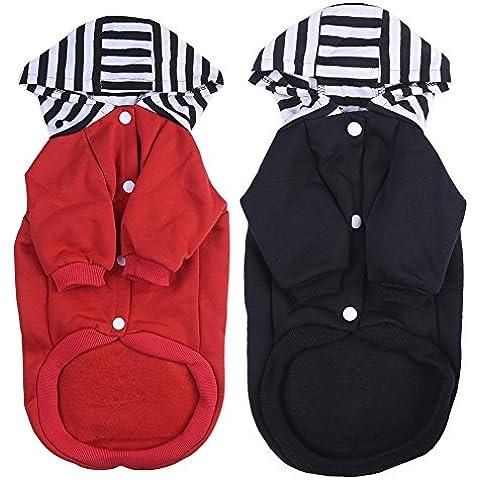 WIDEN Negro caliente / chaqueta Ropa para perros Mascotas del perrito de la abrigos caliente con capucha ropa de