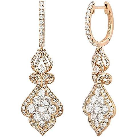 Hot diamonds 1,68 K-Orecchini pendenti a cerchio in oro rosa 18 k - Hot Diamonds Cerchio Orecchini
