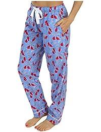 76160ed524dd PajamaMania Pantalon de Pyjama Vêtement de Nuit en Flanelle pour Femmes