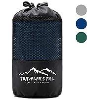 Traveler's Pal Hüttenschlafsack aus 100% hochqualitativer Baumwolle - Schlafsack mit Reißverschluss an Seite und Fußende - Leichter und dünner Inlett Sommerschlafsack atmungsaktiv und hautfreundlich