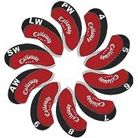 Callaway funda de palo de golf hierro 10pcs/set MT/C10 negro/rojo