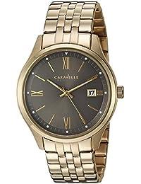 Caravelle 44B111 Men's New York Grey Dial Yellow Gold Steel Bracelet Watch