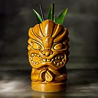 Tiki mani Tazza 18,5/530 ml – Novelty Tazza in ceramica per cocktail e Luau parti a tema hawaiano - Testa In Ceramica Tazza