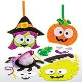 Kits de couture d'Halloween pour enfant parfaits pour les loisirs créatifs et les décorations d'Halloween des enfants (Lot de 4)