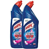 Harpic Powerplus Disinfectant Toilet Cleaner, Rose - 1 L (Pack of 2)