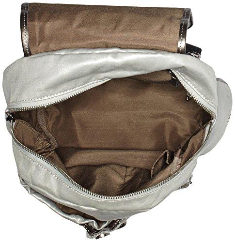 Kipling Damen City Pack S Rucksack Silber (Moon Metal)