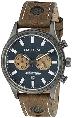 Nautica Hommes de nad19538g NMS 02affichage analogique à quartz montre Marron