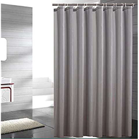 GYMNLJY La tenda della doccia grigio muffa impermeabile ispessimento poliestere Bagno Tagliare tenda d'attaccatura della decorazione della casa Bagno Doccia cortina lavabile ,