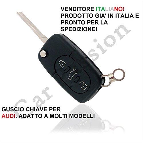 COVER CHIAVE GUSCIO AUDI A2 A3 A4 A6 A8 TT 3 TASTI SCOCCA TELECOMANDO