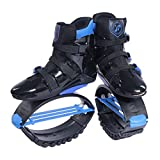 Mryhpe Unisexo Aptitud Rebotar Zapatos Botas de Running Anti-Gravedad Zapatillas de Salto,A,XL