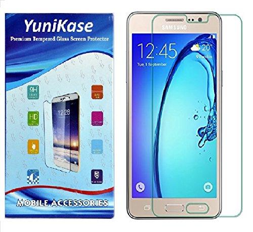 Yunikase Samasung Galaxy On8 -Premium Tempered Glass Mobile Display screen Protector - (Transparent)