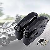 2 Stück Motorradkoffer Seitenkoffer Gepäckkoffer Motorrad Koffer Hartschalenkoffer Rollerkoffer Hängende Aufbewahrungsbox für Motor