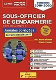 Concours Sous-officier de gendarmerie - Catégorie B - Annales et sujets inédits corrigés - Concours 2019-2020