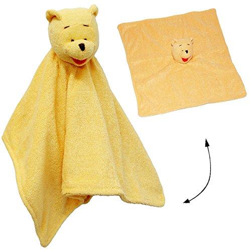"""Schmusetuch / Schnuffeltuch - """" Winnie the Pooh """" - Plüschtuch / Schmusetier - Stoff Bär - Stofftier zur Geburt - Nuckeltuch - Puuh - Schmusekissen Kuscheltier / Plüschtier für Baby - Tier - Trösterchen - Babyplüschtier"""