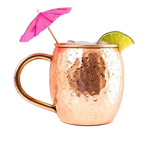 Taza de cobre sólido para coctel Moscow Mule - 1 Taza Twinz'Up...