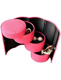 1 Pc Cute Pretty Little Compact Jewellery Box Cum Organiser Jewellery Box- Assorted Color