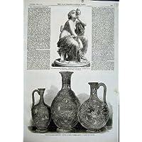 Donna Di Vetro della Statua Di Marmo di Dobson del Vaso di 1862 Articoli