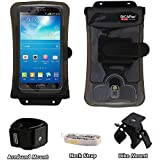 Mobile phone bicycle holder/steering wheel mount + large mobile phone case waterproof – mobile phone holder is GoPro compatible