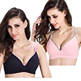 Best Wirefree Bras - Topwhere Women's Wirefree Cotton Maternity Bra Nursing Bra Review