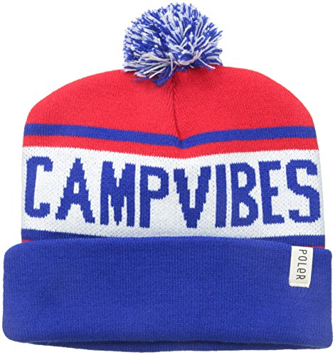 Poler Stuff Beanie Gas Station, Royal Blue/Bright Red/White, One Size, POLMBEA_GAS White Station