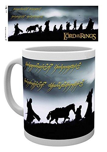 empireposter - Lord of The Rings - Fellowship - Größe (cm), ca. Ø8,5 H9,5 - Lizenz Tassen, NEU - Beschreibung: - Keramik Tasse, weiß, bedruckt, Fassungsvermögen 320 ml, offiziell lizenziert, spülmaschinen- und mikrowellenfest -