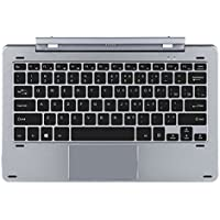 NEW Slim Chuwi 10.1 Inch Original Hi10 Pro/HiBook/HiBook Pro Rotary Shaft Detachable Keyboard With Touch Pad Magnetic Docking Pogo Pin Grey Colour Alloy Body With 2 USB Port COMPUTER PC Rotation Keyboard