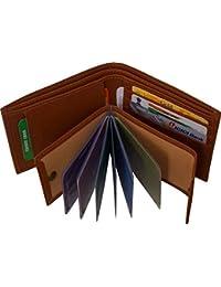 Blissburry Men's Leather Good Money Clip (Tan)