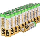 Batterien AA Mignon Super Alkaline Vorratspack 20 Stück [hohe Leistung und sehr lange Haltbarkeit, Markenprodukt GP Batteries]