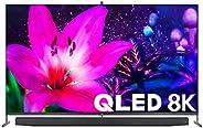 تلفزيون ذكي تي سي ال 75 بوصة QLED 8K HDR معتمد من اندرويد اي ماكس معزز بدون اطار - 75X915-8K (موديل 2020)