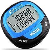 3DActive 3D Pedometer PDA-100| Bestes Pedometer Zum Laufen mit 30-Tage-Speicher. Präziser Schrittzähler, Kalorienzähler, Distanz in Meilen/Km & Überwachung des täglichen Zieles. (Blau)